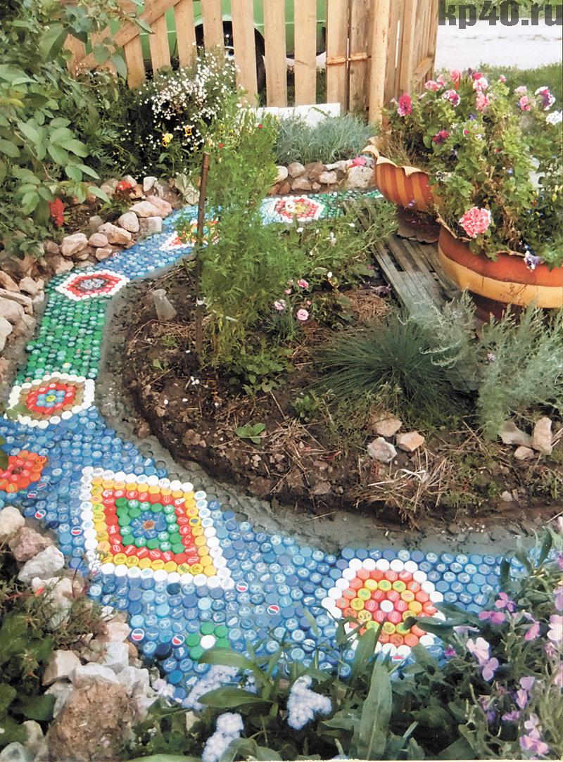 Поделки из пластиковых бутылок и пробок для сада и огорода и описание