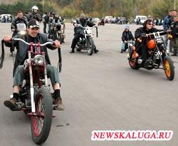 Калужские байкеры на закрытии сезона