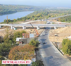 транспортная развязка на новом мосту будет сложной