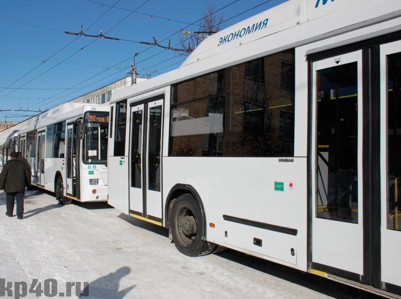 было: большие автобусы на