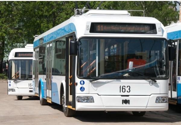 Маршруты двух троллейбусов