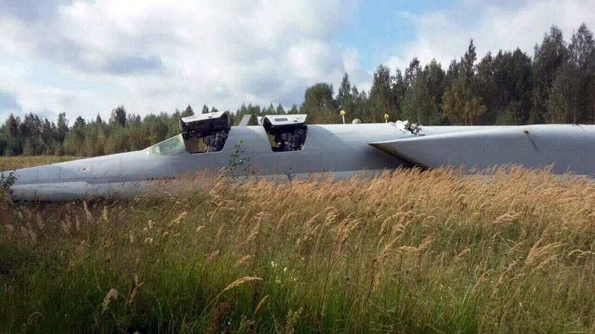 Запределы аэродрома ВВП под Калугой выкатился бомбардировщик Ту-22