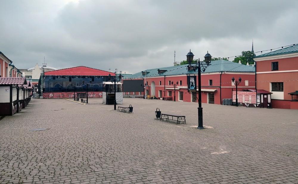 В Калуге ограничат движение вокруг Гостиных рядов из-за трансляций матчей сборной России