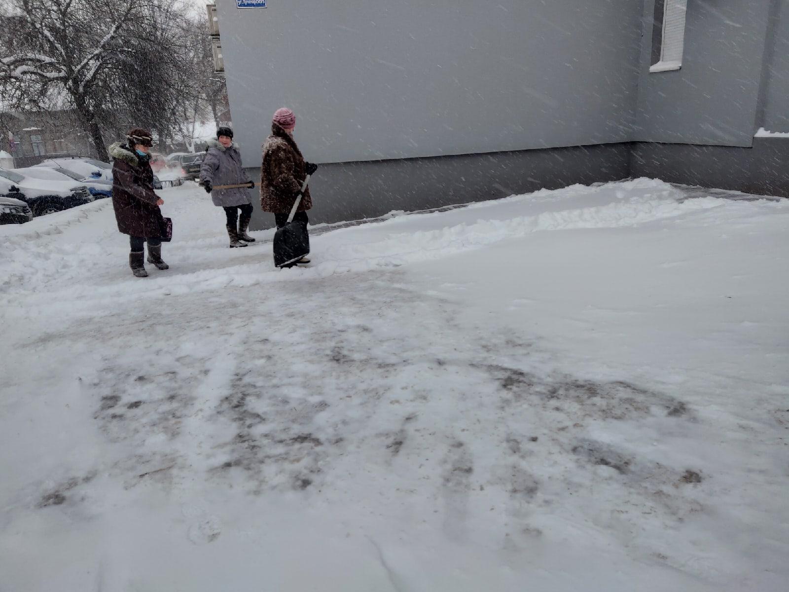 Снегопад Калуга 12 февраля 2021 года