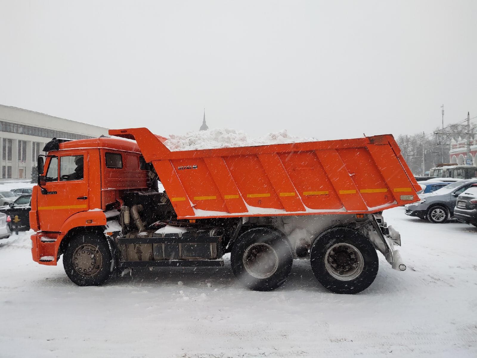 Снегопад в Калуге 12 февраля 2021 года