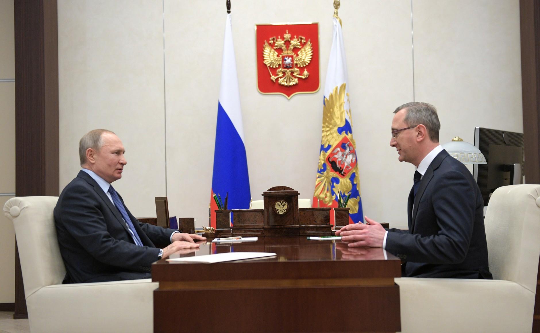 Встреча Владимира Путина и Владислава Шапши 13 февраля.