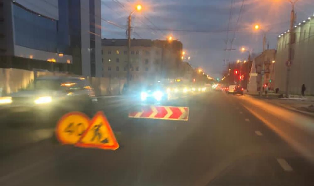 Калуга дорога Ленина дворец спорта островок безопасности