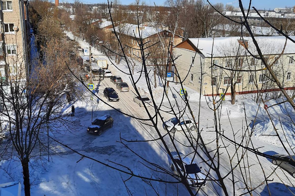 Пробки калуга снегопад дтп
