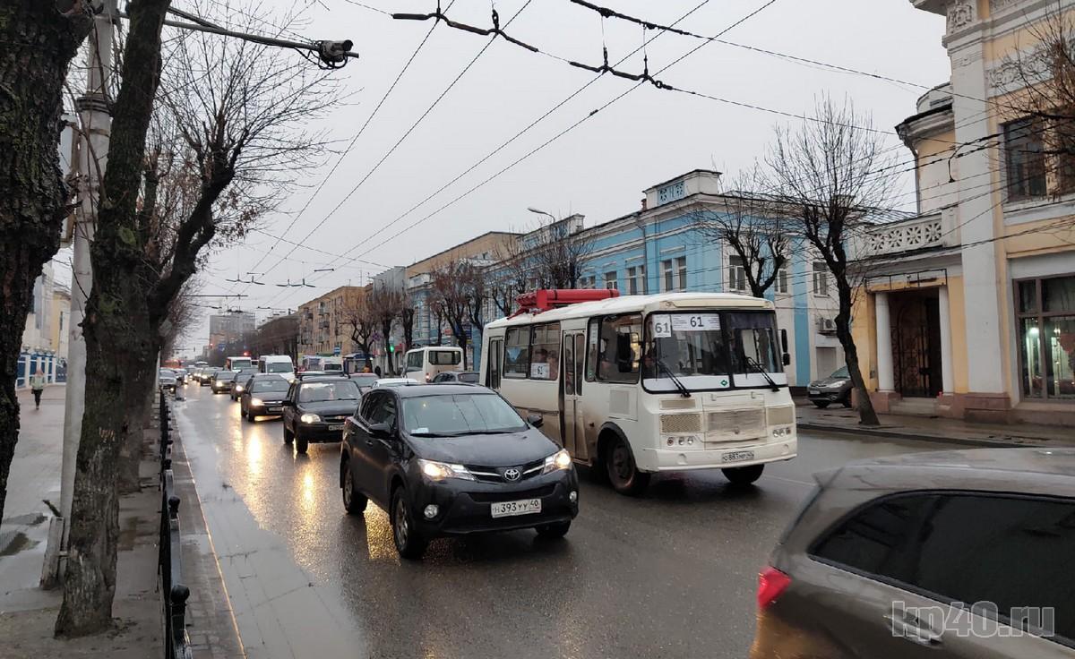 Пробка на улице Ленина