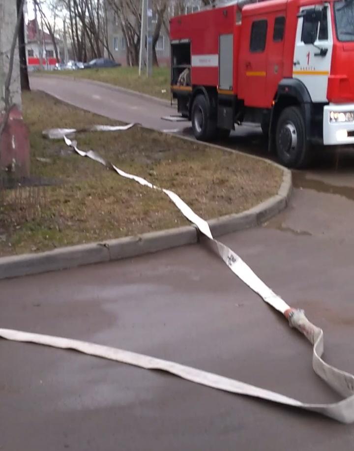 Пожар Калуга Хрустальная