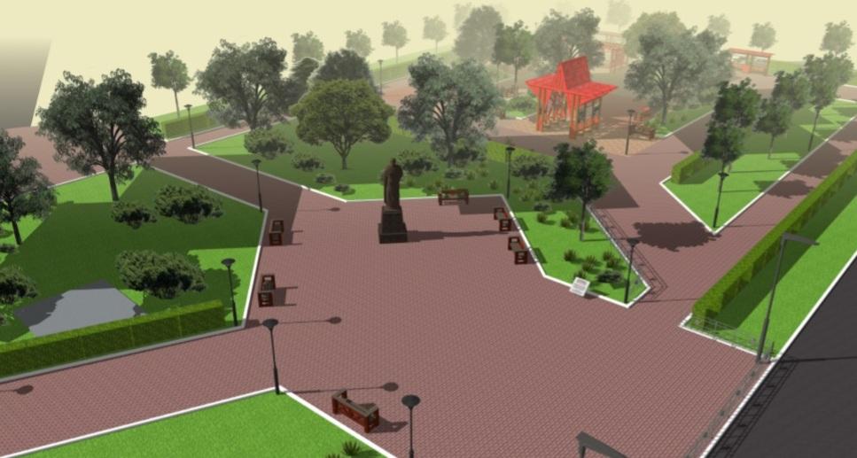 Таким видят будущий сквер архитекторы. Но пока деревьев там нет.
