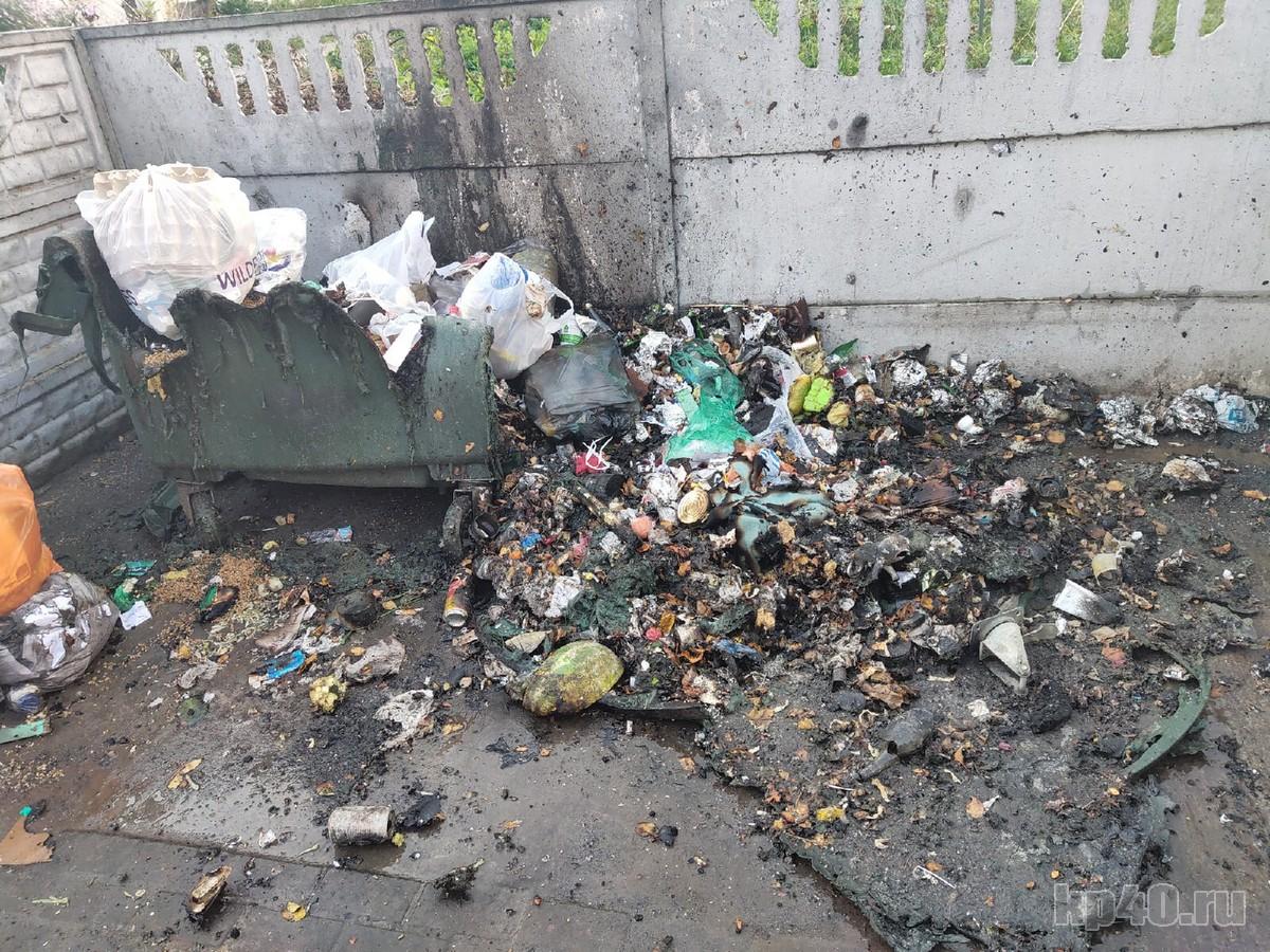 Пожар Калуга мусорные контейнеры