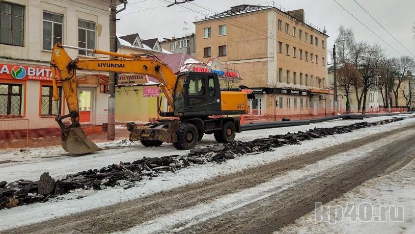 Улицу Московскую раскопали