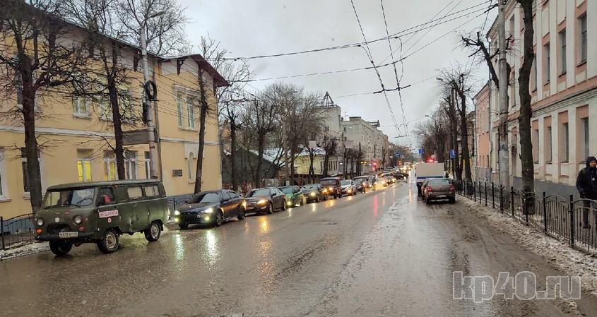 Улица Луначарского в Калуге