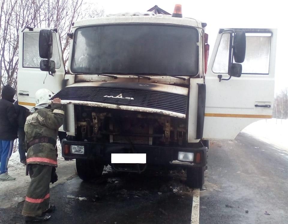 Пожар в Калужской области 22 ноября МАЗ