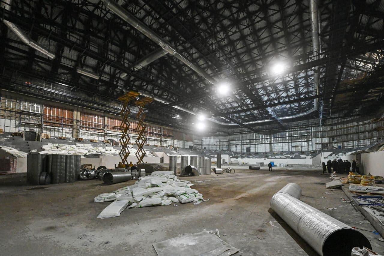 Фото Дворца спорта в Калуге 10 ноября 2020 года.